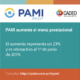 PAMI aumenta el menú prestacional