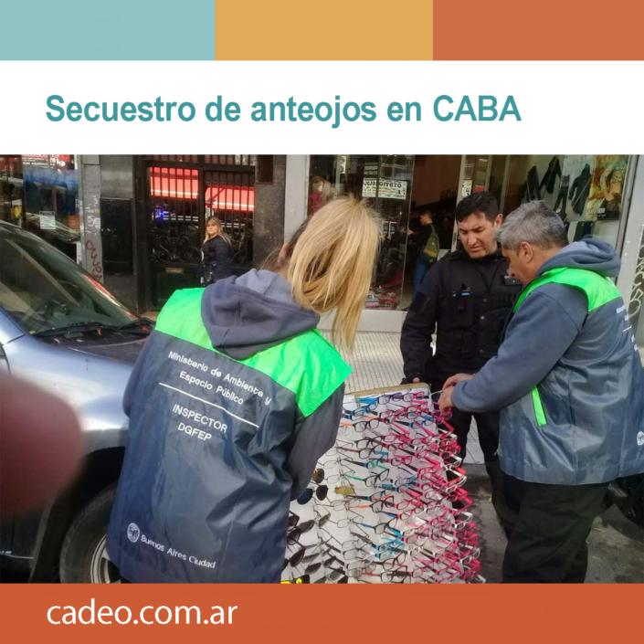 Secuestro de anteojos en CABA